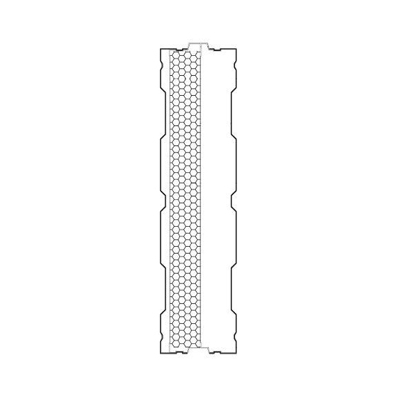 Aluminijski protihrupni panel AL-1s prerez