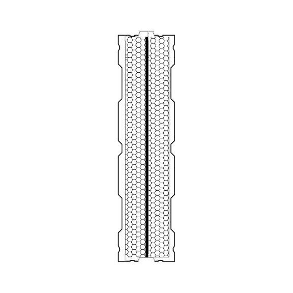 Aluminijski protihrupni panel AL-2S prerez