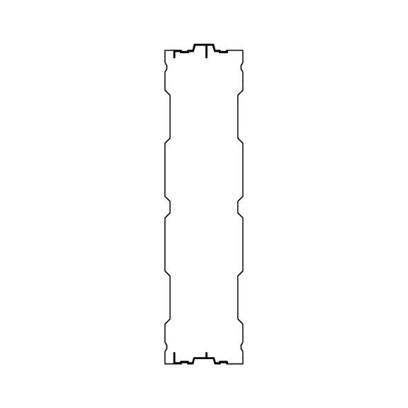 Aluminijski protihrupni panel AL-3 prerez