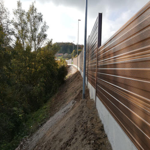 Aluminijska protihrupna ograja Višnja Gora