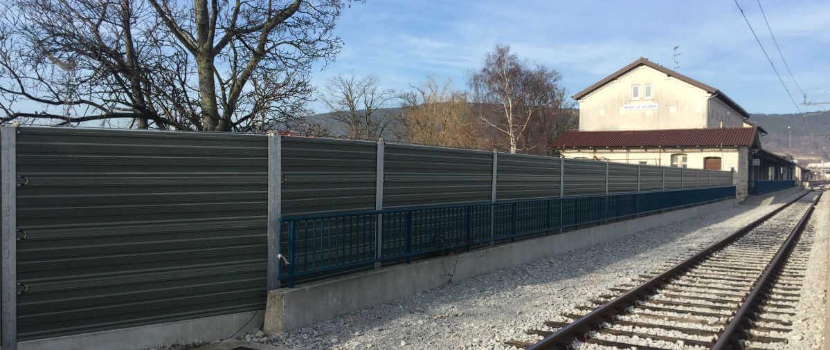 Aluminijske protihrupne ograje na železnici Koper-Divača