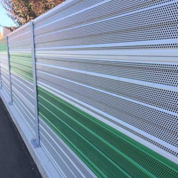 Aluminijski protihrupni paneli AL-1S enostransko absorpcijski