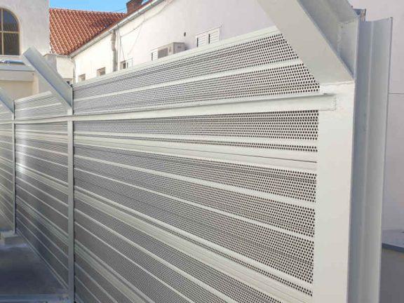 Aluminijski protihrupni paneli za zasščito pred hrupom koncertna dvorana Split
