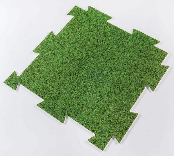 Dekorativna podloga za zascito tal Plastonda Floor trava 50x50 cm