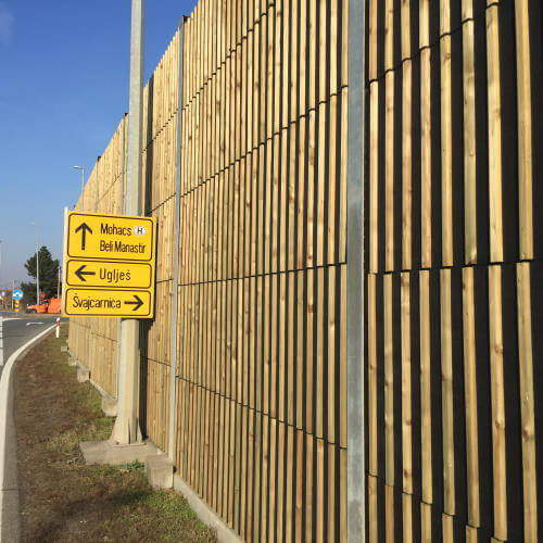 Leseni protihrupni paneli WS1 Švajcarnica