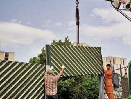 Montaža lesenih protihrupnih panelov