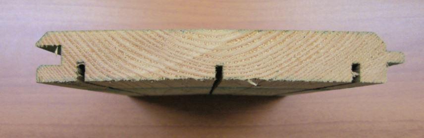 Opažna deska lesenega protihrupnega panela pred impregnacijo