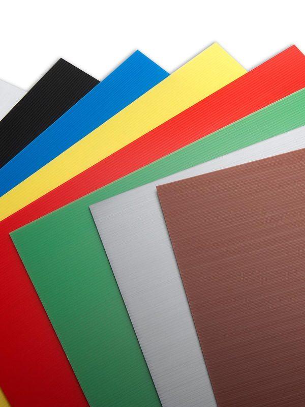 Prekatne polipropilenske plošče Plastonda barvna lestvica