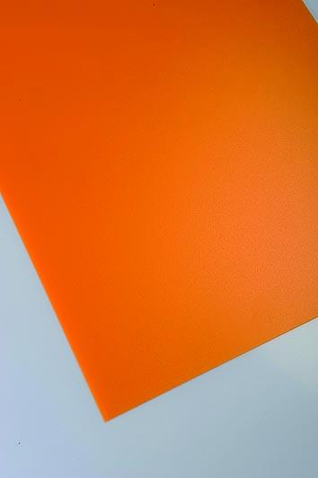 Polne polipropilenske plošče Policolor v oranžni barvi