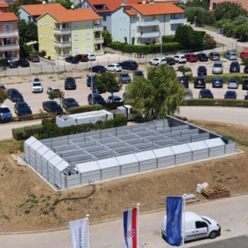 Protihrupna zaščita toplotnih črpalk hotel Corinthia Krk