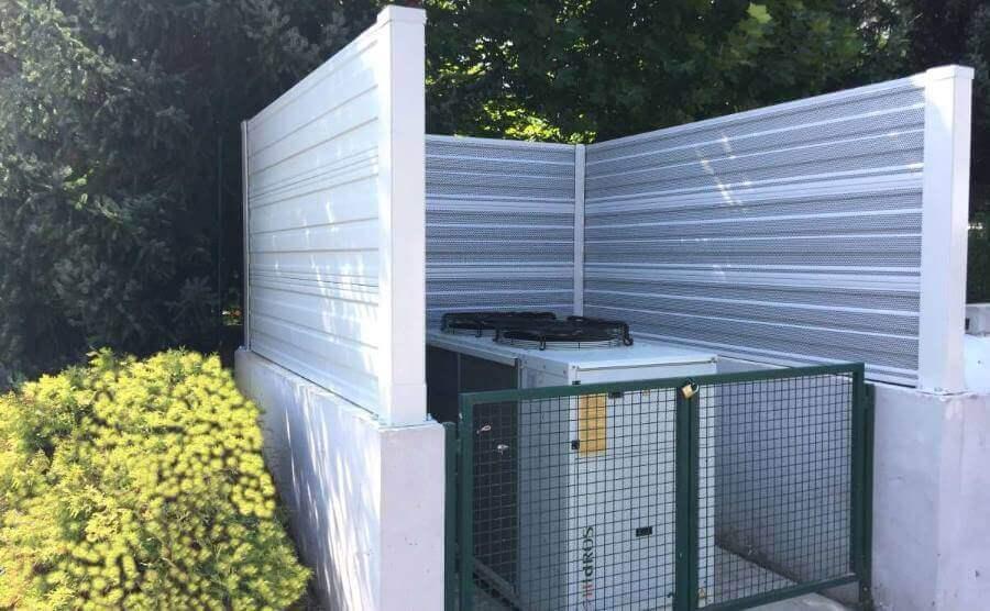 Protihrupna zaščita toplotne črpalke DSO Trebnje