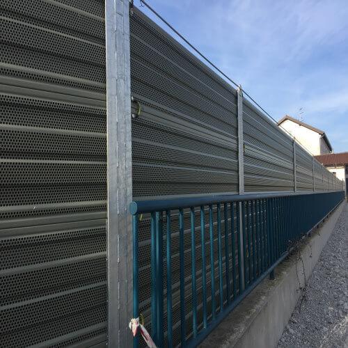Protihrupne ograje na železnici Koper-Divača