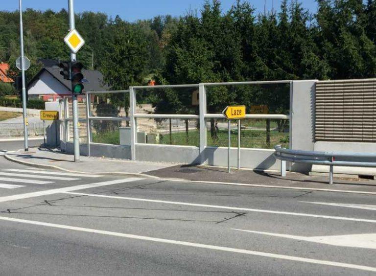 prozorne ograje proti hrupu Črnova