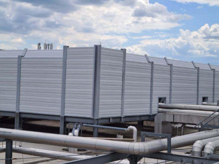Reference protihrupna zaščita toplotnih črpalk in hladilnih sistemov city one