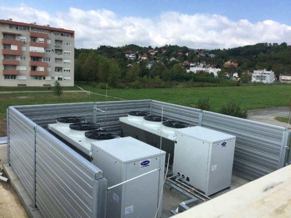 Reference- protihrupna zaščita toplotnih črpalk in hladilnih sistemov