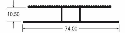 Spojni H profil za polikarbonatno plosco 10 mm Polipan