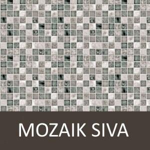Dekorativna stenska obloga Plastonda Decor Mozaik Siva 50x100cm