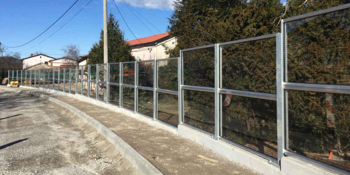 Transparentna ograja proti hrupu Markovščina