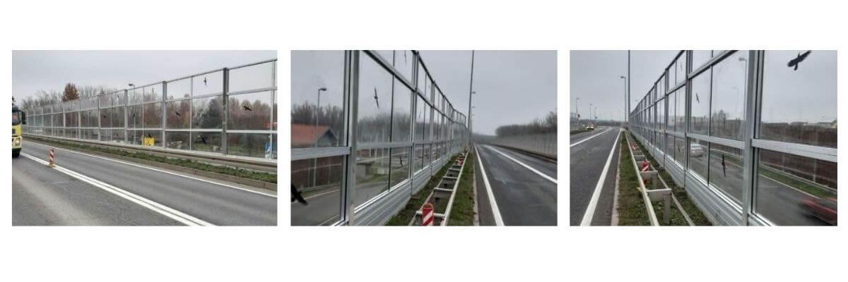 Transparentna ograja proti hrupu v Osijeku