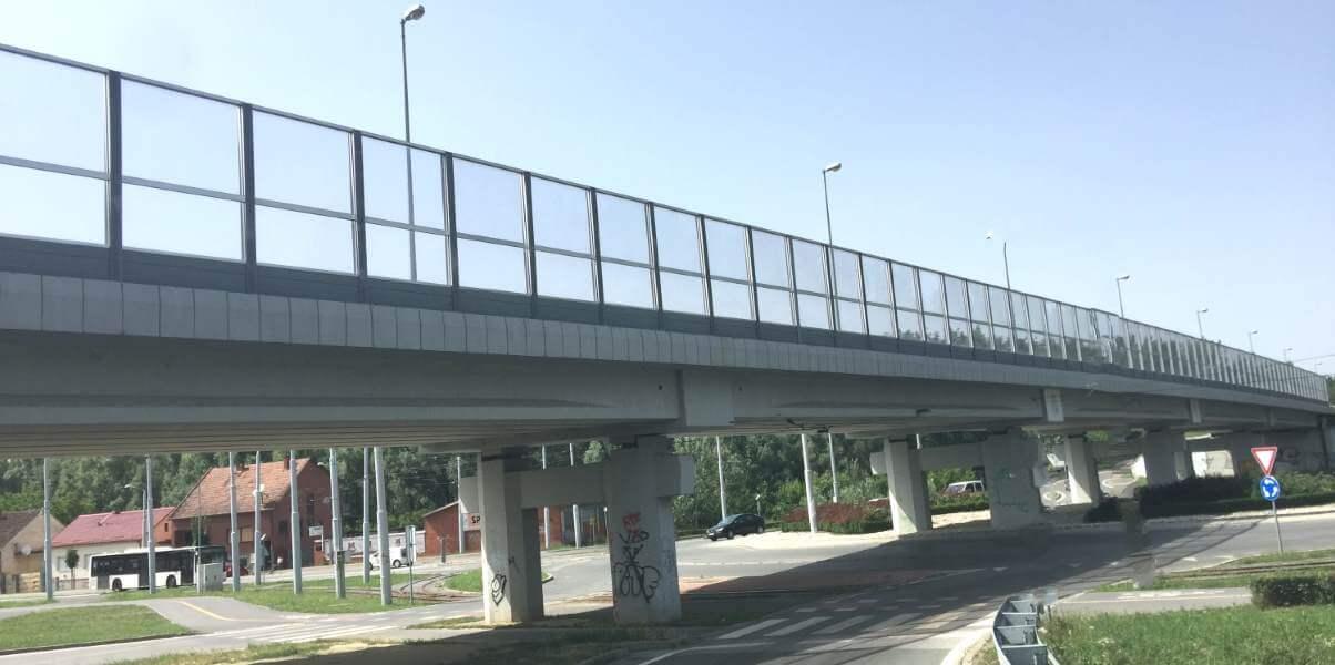 Transparentna protihrupna ograja Višnjevac-Hrvaška