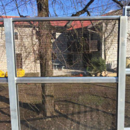 Transparentna protihrupna ograja ob cesti Markovščina