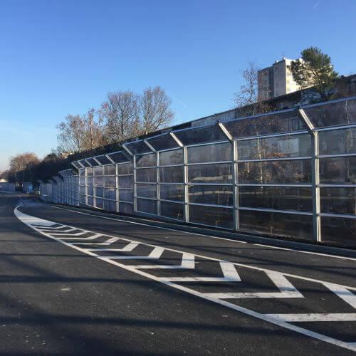 Transparentne ograje proti hrupu Remetinec Zagreb