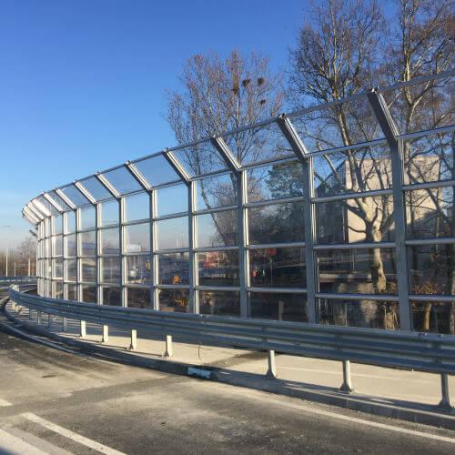 Transparentni protihrupni paneli rotor Remetinec Zagreb