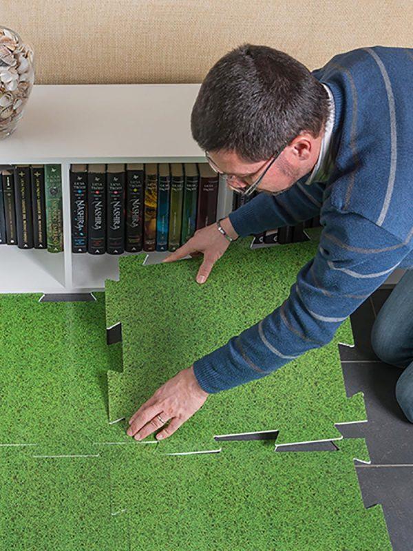 Vgradnja dekorativnih podlog za zaščito tal Plastonda Floor 2