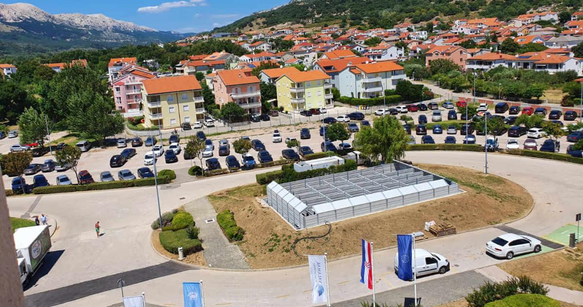 Zaščita proti hrupu toplotnih črpalk Krk-Hrvaška