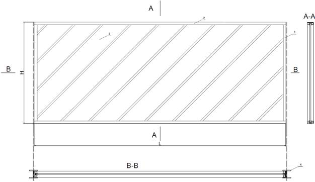 Transparentni protihrupni panel nacrt