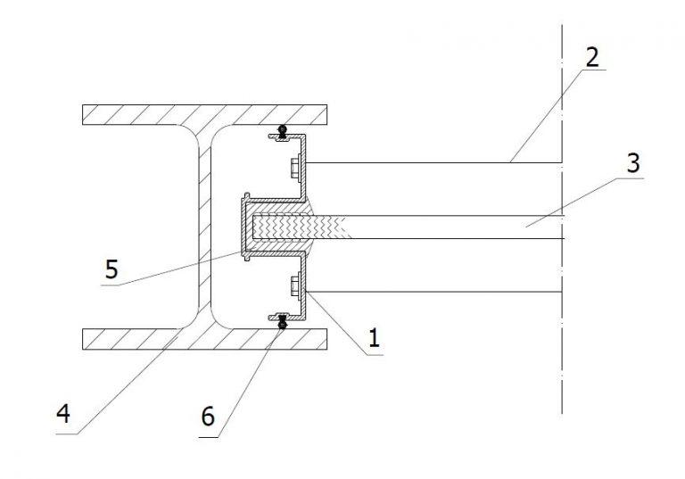 Vgradnja transparentnega panela v HE steber prerez