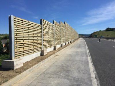 Lesena protihrupna ograja Križevci Hrvaska na avtocesti