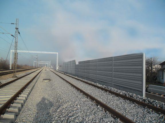Protihrupna ograja Beograd Pancevo protihrupna zascita zeleznica