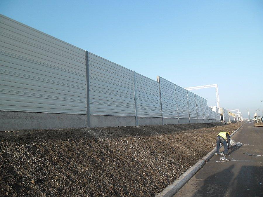 Protihrupna ograja na zeleznici Beograd Pancevo